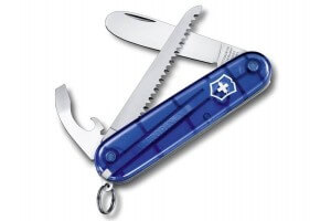 Couteau suisse Victorinox My First 2 bleu translucide 84mm 9 fonctions
