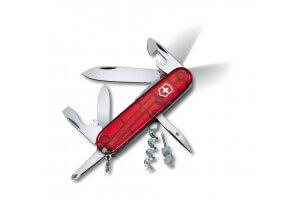 Couteau suisse Victorinox Spartan Lite rouge translucide 91mm 15 fonctions