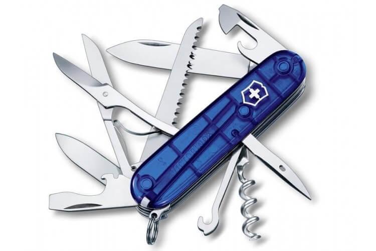 Couteau suisse Victorinox 11 pieces HUNTSMAN bleu translucide