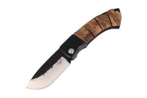 Couteau pliant Herbertz 202512 semi-brut manche bois japonais 12cm