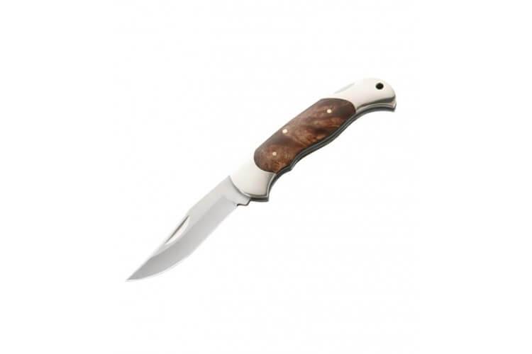 Couteau pliant Herbertz 163112 manche bois de racine 12cm