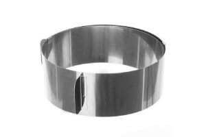 Cercle à entremet extensible en acier inox - de 16 à 30cm
