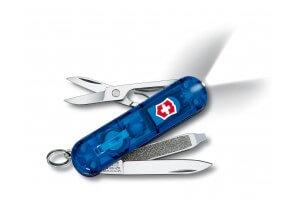 Couteau suisse Victorinox 5 pièces Swisslite bleu translucide