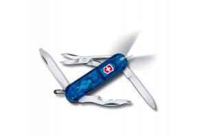 Couteau suisse Victorinox Midnite Manager bleu translucide 58mm 10 fonctions