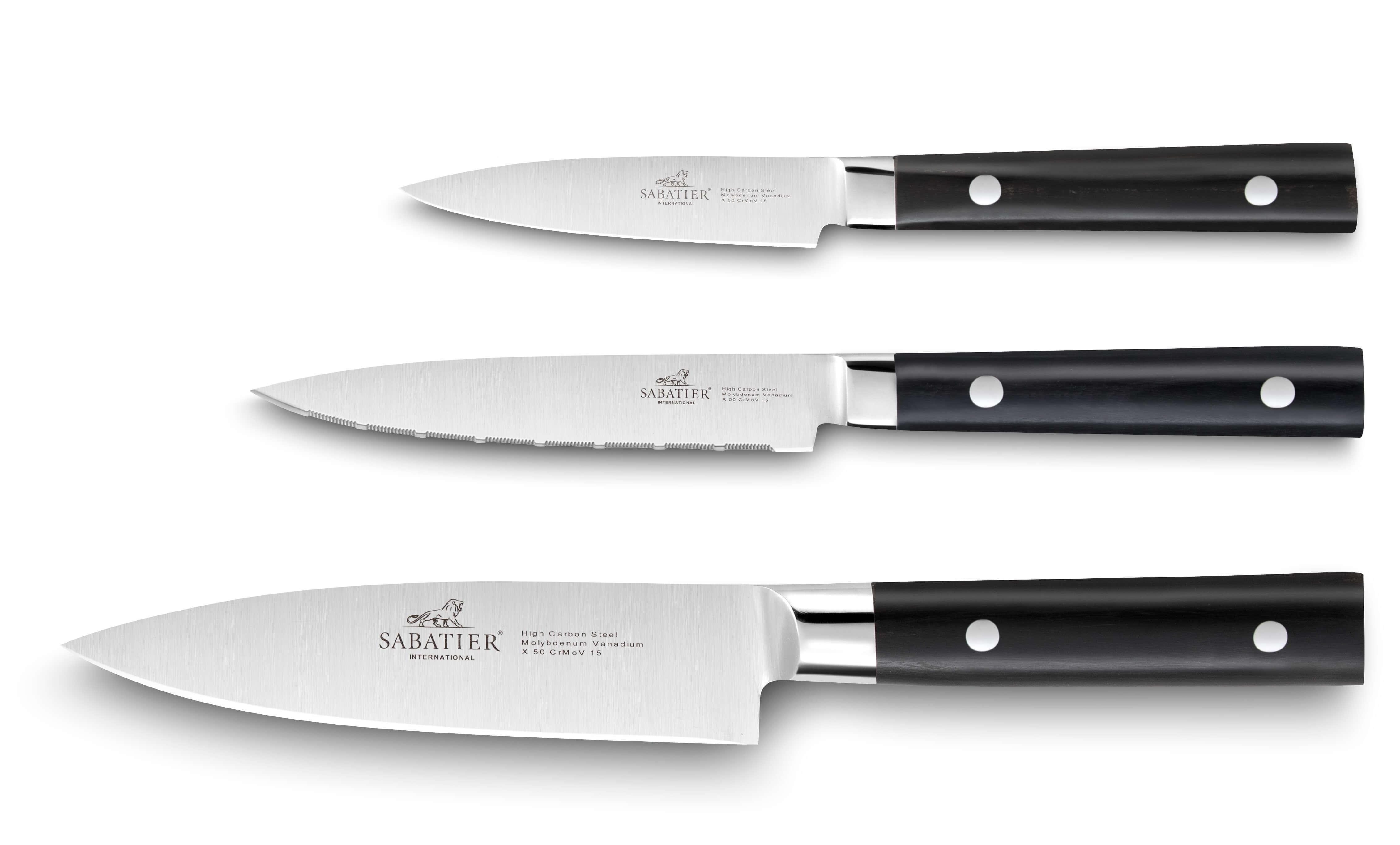 Coffret 3 Couteaux Cuisine Sabatier International Mars