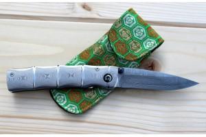 Couteau pliant MCUSTA Take MC-33D acier damas 66 couches 9.5cm + étui