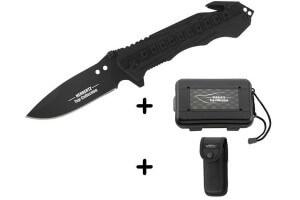 Couteau pliant de secours Herbertz Top-Collection 520912 noir 12cm