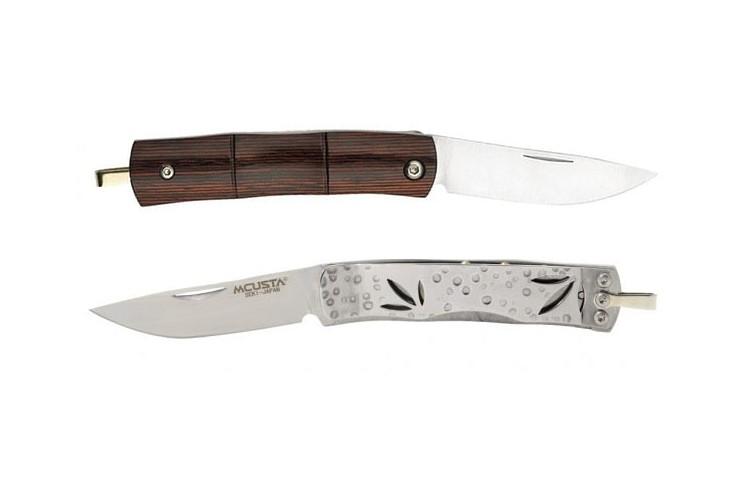 Couteau pliant MCUSTA Bamboo Money Clip MC-151 ébène 9cm