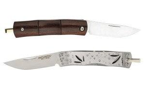 Couteau pliant MCUSTA Bamboo Money Clip MC-152 stamina rouge 9cm