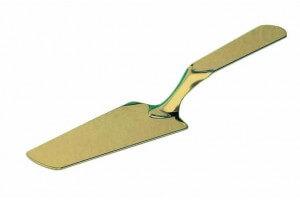 Pelle de service élégante inox couleur or - 24cm