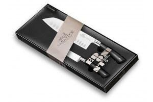 Coffret 2 couteaux forgés Sabatier Edonist Santoku + Office