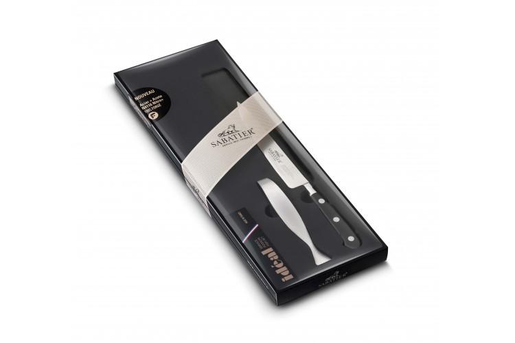 Coffret SABATIER Idéal Inox 100% forgé 1 couteau filet de sole + 1 pince