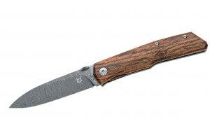 Couteau pliant FOX Terzuola FX-525DB Damas manche bocote 11cm + étui