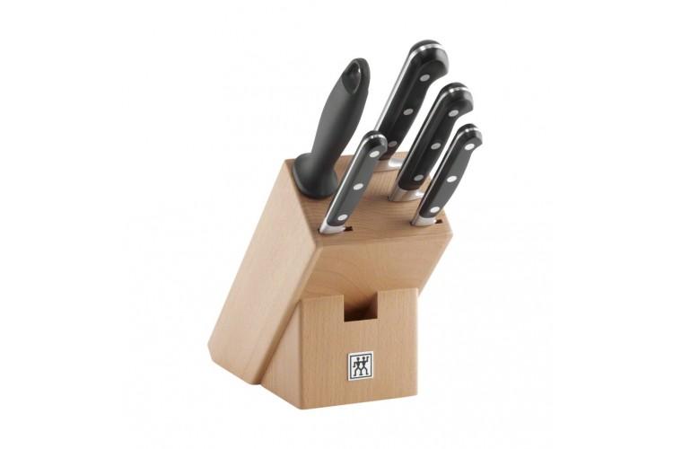Bloc 4 couteaux de cuisine Zwilling Professionnel S forgés + 1 fusil à aiguiser