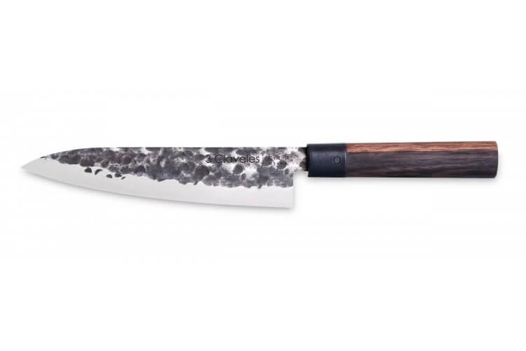 Couteau de chef 3 Claveles Osaka 20cm forgé main manche grenadille