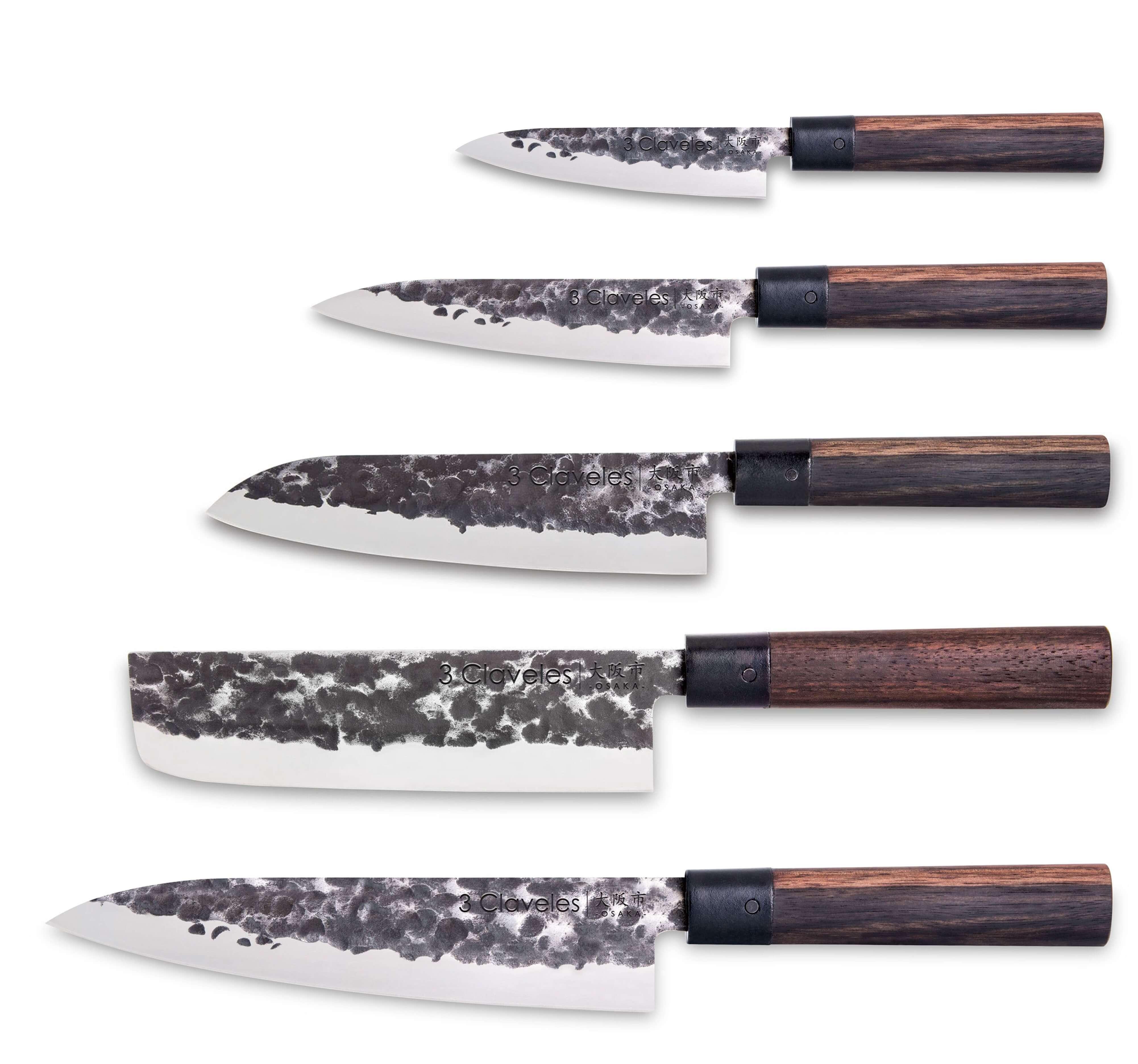 Set 5 Couteaux Osaka 3 Claveles Design Japonais