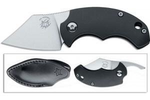 Couteau pliant FOX Bastinelli FX-519B BB Drago noir 6,5cm + étui