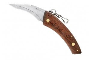 Couteau à champignon Maserin 12cm + brosse intégrée