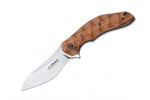 Couteau pliant Ansø FOX FX-302ST manche 12cm palissandre ondulé + étui