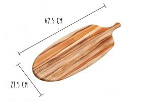 Planche à découper Teak Haus Canoe Collection en Teck écologique 67.5x21.5cm