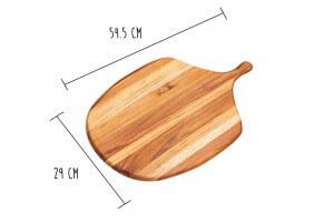 Planche à découper Teak Haus Canoe Collection en Teck écologique 54.5x29cm