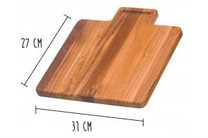 Planche à découper Teak Haus Marine Collection en Teck écologique 31x27cm