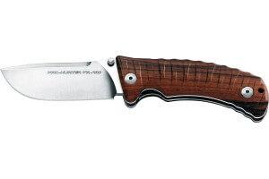 Couteau pliant de chasse FOX PRO Hunter FX-130 manche 12cm bois du désert