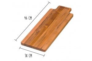 Planche à découper Teak Haus Marine Collection en Teck écologique 46x18cm