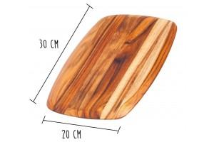 Planche à découper Teak Haus Elegant Collection en Teck écologique 30x20cm