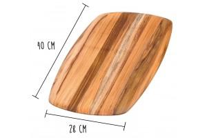 Planche à découper Teak Haus Elegant Collection en Teck écologique 40x28cm
