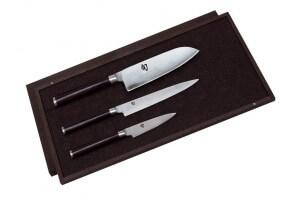 Coffret 3 couteaux japonais Kai Shun Classic Damas