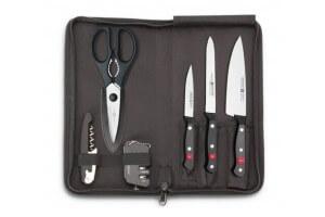 Set du cuisinier voyageur Wusthof Gourmet 3 couteaux + 3 accessoires