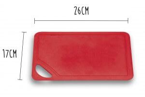 Planche à découper souple Wusthof rouge 26x17cm