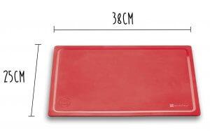 Planche à découper souple Wusthof rouge 38x25cm