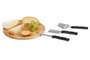 Plateau à fromages Kitchen Artist + 3 accessoires de découpe