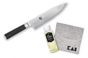 Couteau de chef Kai Shun Classic Damas 20cm + kit de soin
