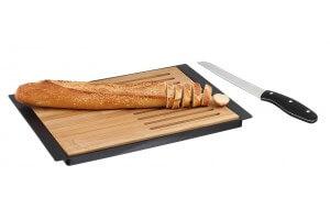 Planche à découper bambou spéciale pain Kitchen Artist + couteau à dents