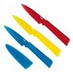 Set 3 couteaux d'office Kuhn Rikon COLORI+ revêtement multicolore