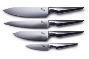 Coffret 4 couteaux de cuisine Edge of Belgravia Arondight acier inox
