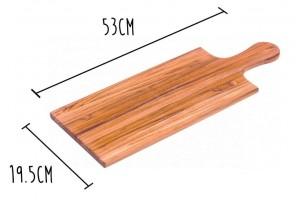 Planche à découper Teak Haus Aperitif en Teck écologique 53x19.5cm