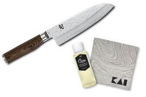 Couteau santoku Kai Shun Premier Tim Malzer 18cm + kit de soin