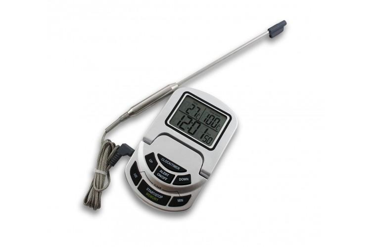 Thermomètre four inclinable digital de 0 à +300°C Alla France avec sonde inox