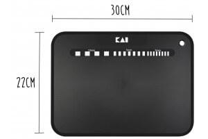 Planche à découper souple KAI noire 30x22cm