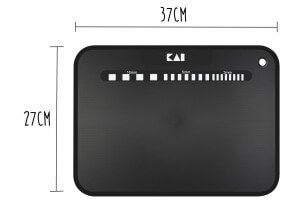 Planche à découper souple KAI noire 37x27cm