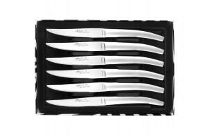 """Coffret 6 couteaux de table monobloc inox LE THIERS """"As de Coupe microdenté"""""""