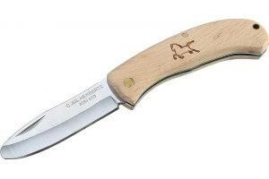 Couteau pliant enfant Herbertz 295908 lame à bout rond manche hêtre 8cm