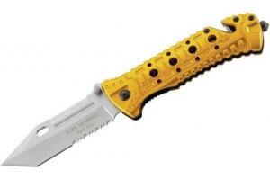 Couteau pliant de secours Herbertz 230111 lame dentée manche alu 11cm