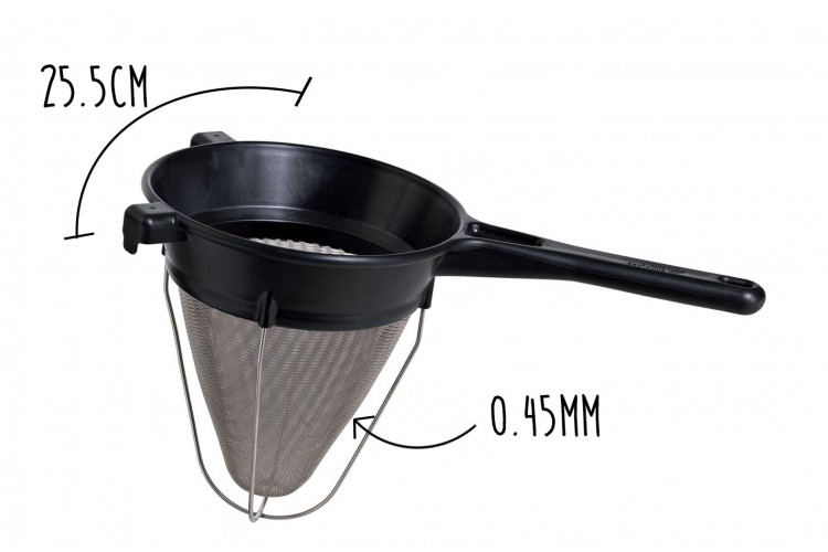 Passe-sauce professionnel Matfer Exoglass® maille 0.45mm diamètre 25.5cm
