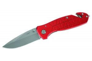 Couteau pliant Herbertz 200911 manche rouge 12cm + fonctions sécurité