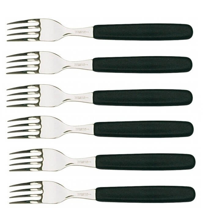 Barbecue Table de cuisine Fourchette manche bois TRAMONTINA Steak Pizza Forks Set de 6 pcs